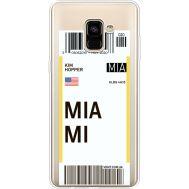 Силиконовый чехол BoxFace Samsung A730 Galaxy A8 Plus (2018) Ticket Miami (35992-cc81)