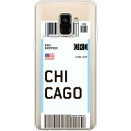 Силиконовый чехол BoxFace Samsung A730 Galaxy A8 Plus (2018) Ticket Chicago (35992-cc82)