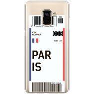 Силиконовый чехол BoxFace Samsung A730 Galaxy A8 Plus (2018) Ticket Paris (35992-cc86)