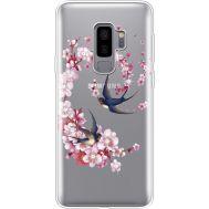 Силиконовый чехол BoxFace Samsung G965 Galaxy S9 Plus Swallows and Bloom (935749-rs4)