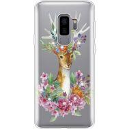 Силиконовый чехол BoxFace Samsung G965 Galaxy S9 Plus Deer with flowers (935749-rs5)