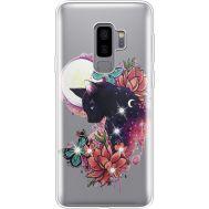 Силиконовый чехол BoxFace Samsung G965 Galaxy S9 Plus Cat in Flowers (935749-rs10)