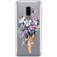 Силиконовый чехол BoxFace Samsung G965 Galaxy S9 Plus Ice Cream Flowers (935749-rs17)