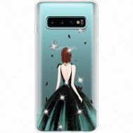 Силиконовый чехол BoxFace Samsung G973 Galaxy S10 Girl in the green dress (935879-rs13)