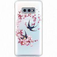 Силиконовый чехол BoxFace Samsung G970 Galaxy S10e Swallows and Bloom (935884-rs4)