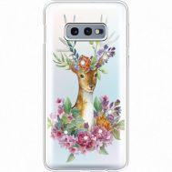 Силиконовый чехол BoxFace Samsung G970 Galaxy S10e Deer with flowers (935884-rs5)