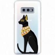 Силиконовый чехол BoxFace Samsung G970 Galaxy S10e Egipet Cat (935884-rs8)