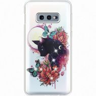 Силиконовый чехол BoxFace Samsung G970 Galaxy S10e Cat in Flowers (935884-rs10)