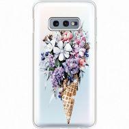 Силиконовый чехол BoxFace Samsung G970 Galaxy S10e Ice Cream Flowers (935884-rs17)
