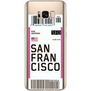 Силиконовый чехол BoxFace Samsung G955 Galaxy S8 Plus Ticket San Francisco (35050-cc79)