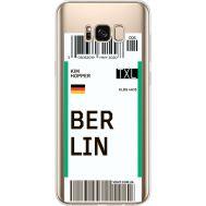Силиконовый чехол BoxFace Samsung G955 Galaxy S8 Plus Ticket Berrlin (35050-cc80)