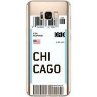 Силиконовый чехол BoxFace Samsung G955 Galaxy S8 Plus Ticket Chicago (35050-cc82)