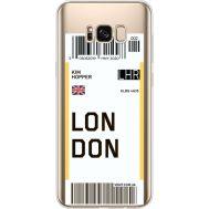 Силиконовый чехол BoxFace Samsung G955 Galaxy S8 Plus Ticket London (35050-cc83)