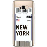 Силиконовый чехол BoxFace Samsung G955 Galaxy S8 Plus Ticket New York (35050-cc84)