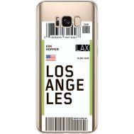 Силиконовый чехол BoxFace Samsung G955 Galaxy S8 Plus Ticket Los Angeles (35050-cc85)