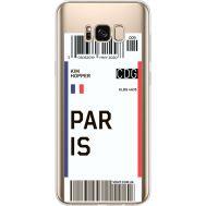 Силиконовый чехол BoxFace Samsung G955 Galaxy S8 Plus Ticket Paris (35050-cc86)