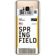 Силиконовый чехол BoxFace Samsung G955 Galaxy S8 Plus Ticket Springfield (35050-cc93)