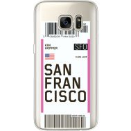 Силиконовый чехол BoxFace Samsung G930 Galaxy S7 Ticket San Francisco (35495-cc79)
