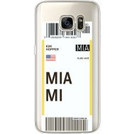 Силиконовый чехол BoxFace Samsung G930 Galaxy S7 Ticket Miami (35495-cc81)