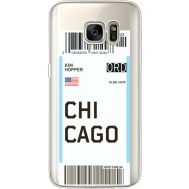 Силиконовый чехол BoxFace Samsung G930 Galaxy S7 Ticket Chicago (35495-cc82)