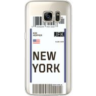 Силиконовый чехол BoxFace Samsung G930 Galaxy S7 Ticket New York (35495-cc84)