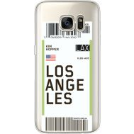 Силиконовый чехол BoxFace Samsung G930 Galaxy S7 Ticket Los Angeles (35495-cc85)
