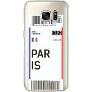 Силиконовый чехол BoxFace Samsung G930 Galaxy S7 Ticket Paris (35495-cc86)