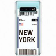 Силиконовый чехол BoxFace Samsung G973 Galaxy S10 Ticket New York (35879-cc84)
