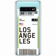 Силиконовый чехол BoxFace Samsung G973 Galaxy S10 Ticket Los Angeles (35879-cc85)