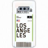 Силиконовый чехол BoxFace Samsung G970 Galaxy S10e Ticket Los Angeles (35884-cc85)