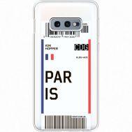 Силиконовый чехол BoxFace Samsung G970 Galaxy S10e Ticket Paris (35884-cc86)