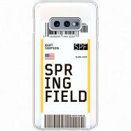 Силиконовый чехол BoxFace Samsung G970 Galaxy S10e Ticket Springfield (35884-cc93)