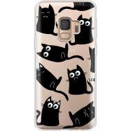 Силиконовый чехол BoxFace Samsung G960 Galaxy S9 с 3D-глазками Black Kitty (36194-cc73)