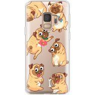 Силиконовый чехол BoxFace Samsung G960 Galaxy S9 с 3D-глазками Pug (36194-cc77)