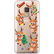 Силиконовый чехол BoxFace Samsung G960 Galaxy S9 с 3D-глазками Reindeer (36194-cc74)