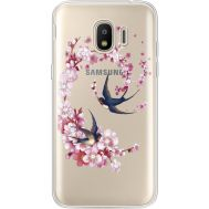 Силиконовый чехол BoxFace Samsung J250 Galaxy J2 (2018) Swallows and Bloom (935055-rs4)