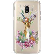 Силиконовый чехол BoxFace Samsung J250 Galaxy J2 (2018) Deer with flowers (935055-rs5)