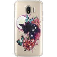 Силиконовый чехол BoxFace Samsung J250 Galaxy J2 (2018) Cat in Flowers (935055-rs10)