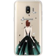 Силиконовый чехол BoxFace Samsung J250 Galaxy J2 (2018) Girl in the green dress (935055-rs13)