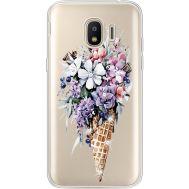Силиконовый чехол BoxFace Samsung J250 Galaxy J2 (2018) Ice Cream Flowers (935055-rs17)