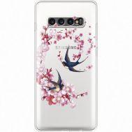 Силиконовый чехол BoxFace Samsung G975 Galaxy S10 Plus Swallows and Bloom (935881-rs4)