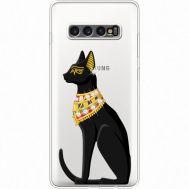 Силиконовый чехол BoxFace Samsung G975 Galaxy S10 Plus Egipet Cat (935881-rs8)