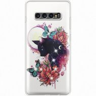 Силиконовый чехол BoxFace Samsung G975 Galaxy S10 Plus Cat in Flowers (935881-rs10)