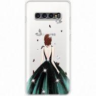 Силиконовый чехол BoxFace Samsung G975 Galaxy S10 Plus Girl in the green dress (935881-rs13)