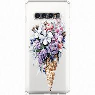 Силиконовый чехол BoxFace Samsung G975 Galaxy S10 Plus Ice Cream Flowers (935881-rs17)