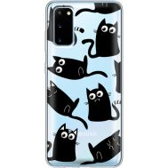 Силиконовый чехол BoxFace Samsung G980 Galaxy S20 с 3D-глазками Black Kitty (38870-cc73)