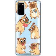 Силиконовый чехол BoxFace Samsung G980 Galaxy S20 с 3D-глазками Pug (38870-cc77)