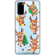 Силиконовый чехол BoxFace Samsung G980 Galaxy S20 с 3D-глазками Reindeer (38870-cc74)