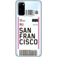 Силиконовый чехол BoxFace Samsung G980 Galaxy S20 Ticket San Francisco (38870-cc79)