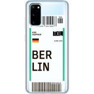 Силиконовый чехол BoxFace Samsung G980 Galaxy S20 Ticket Berrlin (38870-cc80)